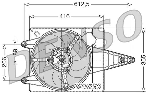 Ventilateur de radiateur DENSO DER01004 (X1)
