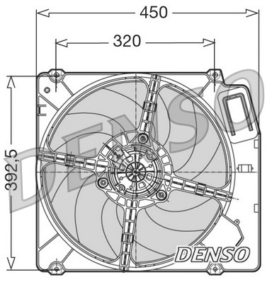 Ventilateur de radiateur DENSO DER09028 (X1)