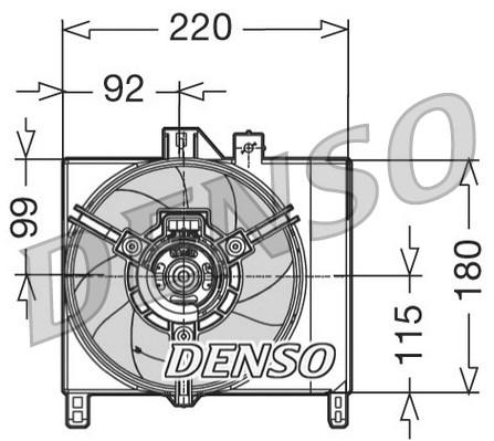 Ventilateur de radiateur DENSO DER16002 (X1)