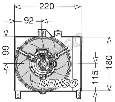 Ventilateur de radiateur DENSO DER16003 (X1)
