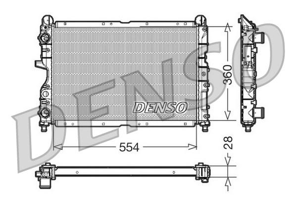 Radiateur de refroidissement DENSO DRM01003 (X1)