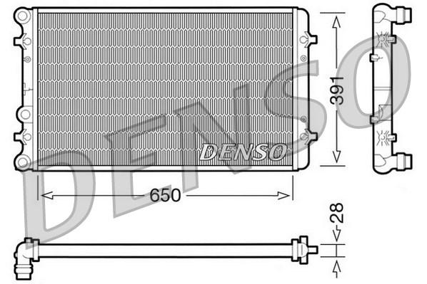 Radiateur de refroidissement DENSO DRM02007 (X1)
