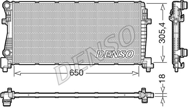 Radiateur de refroidissement DENSO DRM02017 (X1)
