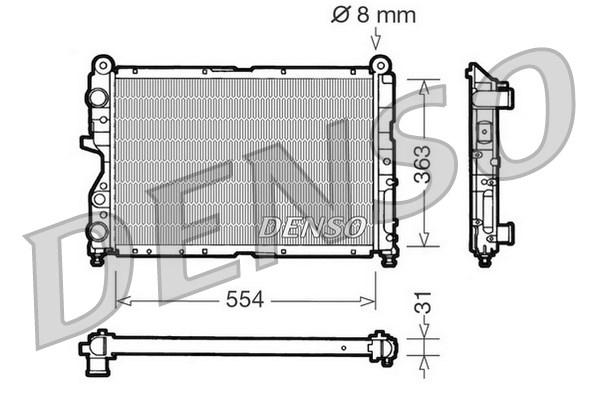 Radiateur de refroidissement DENSO DRM09130 (X1)