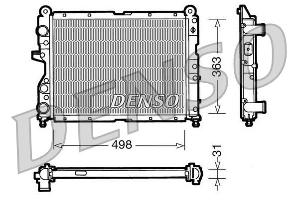 Radiateur de refroidissement DENSO DRM09131 (X1)