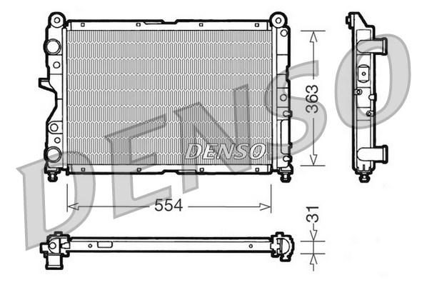 Radiateur de refroidissement DENSO DRM09132 (X1)