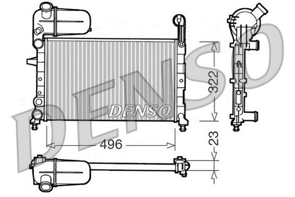 Radiateur de refroidissement DENSO DRM09133 (X1)