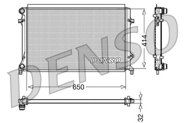 Radiateur de refroidissement DENSO DRM32016 (X1)