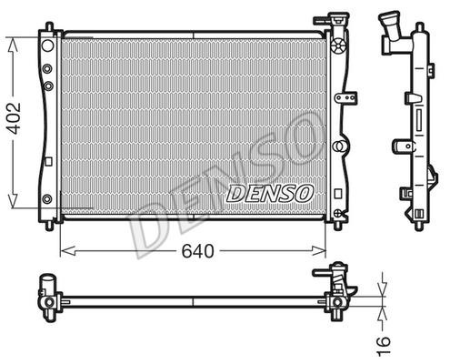 Radiateur de refroidissement DENSO DRM45005 (X1)