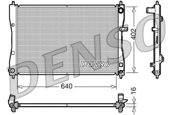 Radiateur de refroidissement DENSO DRM45009 (X1)