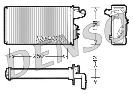 Radiateur de chauffage DENSO DRR09010 (X1)