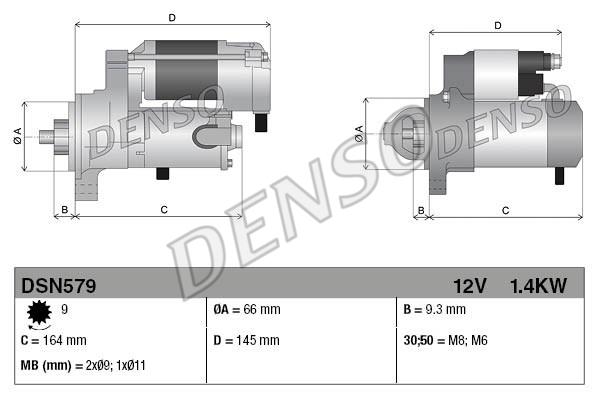Demarreur DENSO DSN579 (X1)