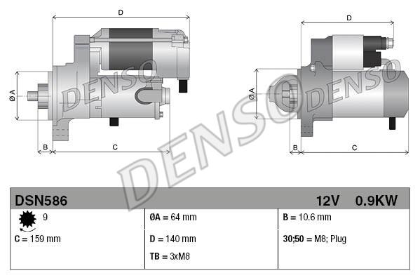 Demarreur DENSO DSN586 (X1)