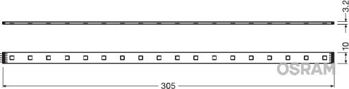 Ampoule, éclairage intérieur OSRAM LEDINT104 (X1)