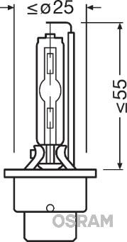 Ampoules OSRAM 66240XNB (X1)