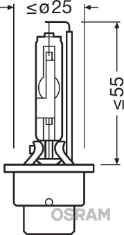 Ampoules OSRAM 66250CBI (X1)