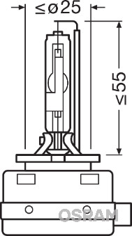 Ampoules OSRAM 66548 (X1)