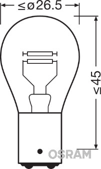 Ampoules OSRAM 7225-02B (Jeu de 2)