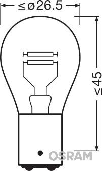 Ampoules OSRAM 7528ULT-02B (Jeu de 2)