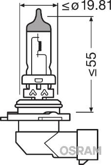 Ampoules OSRAM 9006 (Jeu de 10)
