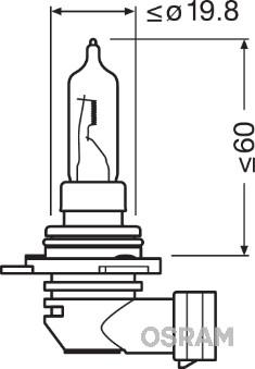 Ampoules OSRAM 9012 (Jeu de 10)