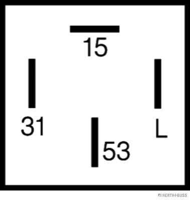 Relais, intervalle d'essuyage HERTH+BUSS ELPARTS 75614029