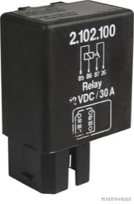 Relais, chasse du ventilateur de radiateur HERTH+BUSS ELPARTS 75614231 (X1)