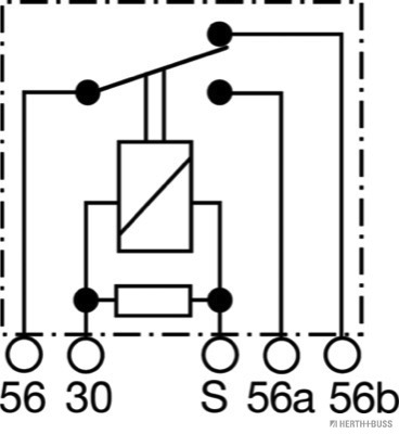 Relais, feu de croisement HERTH+BUSS ELPARTS 75899240 (X1)