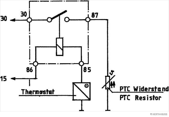 Relais, chasse du ventilateur de radiateur HERTH+BUSS ELPARTS 75899931 (X1)