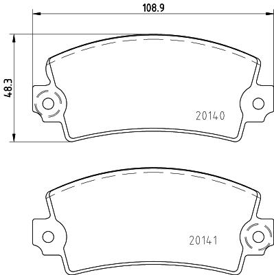 Plaquettes de frein MINTEX MDB2425 (X1)
