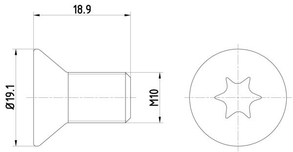 Vis disque de frein MINTEX TPM0010 (Jeu de 2)