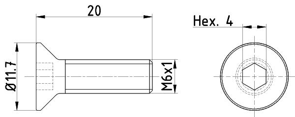 Vis disque de frein MINTEX TPM0015 (Jeu de 2)