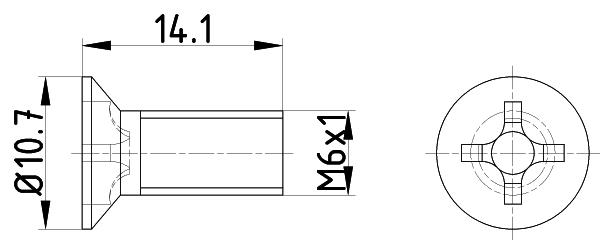 Vis disque de frein MINTEX TPM0018 (Jeu de 2)