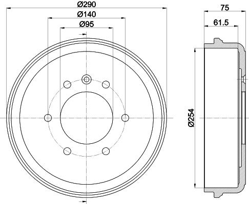 Tambour de frein arriere MINTEX MBD223 (X1)