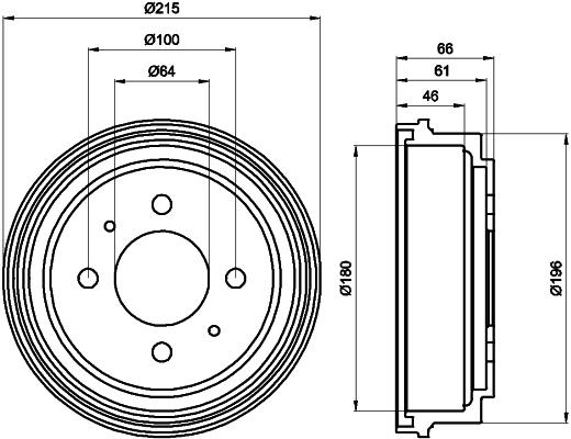 Tambour de frein arriere MINTEX MBD103 (X1)