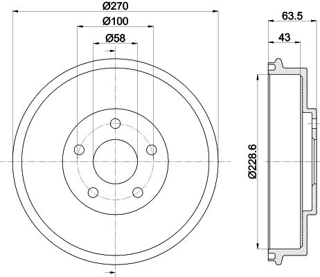 Tambour de frein arriere MINTEX MBD282 (X1)