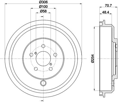 Tambour de frein arriere MINTEX MBD340 (Jeu de 2)
