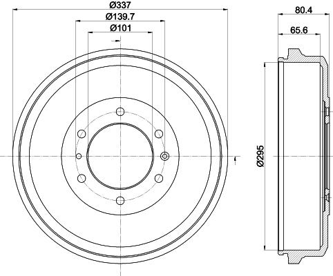 Tambour de frein arriere MINTEX MBD374 (X1)