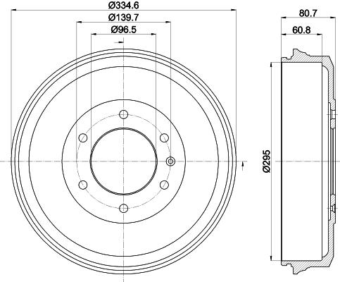 Tambour de frein arriere MINTEX MBD369 (Jeu de 2)