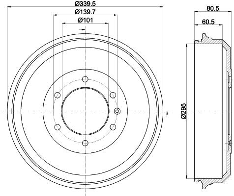 Tambour de frein arriere MINTEX MBD387 (Jeu de 2)
