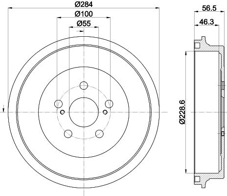 Tambour de frein arriere MINTEX MBD400 (Jeu de 2)
