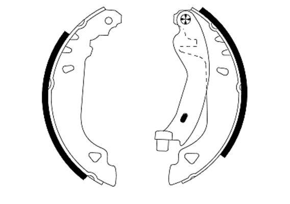 kit de frein arrière simple ou prémonté MINTEX MFR268 (X1)