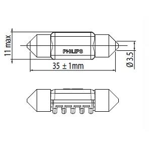 Visibilite PHILIPS 128596000KX1 (X1)