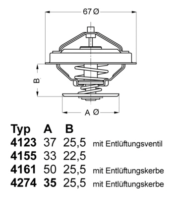 Thermostat/calorstat WAHLER 4161.83 (X1)