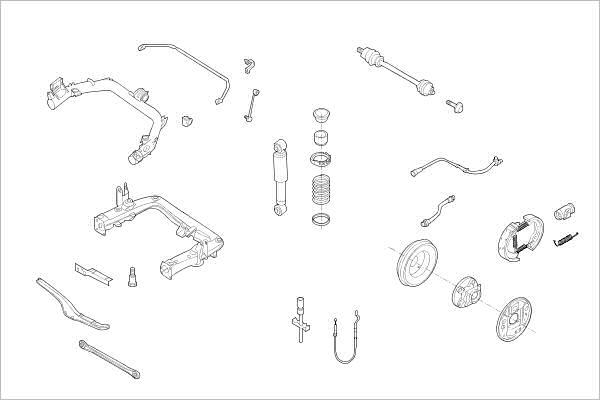 Silentblocs des roues DELPHI OE-SMAR-000017198-R (X1)