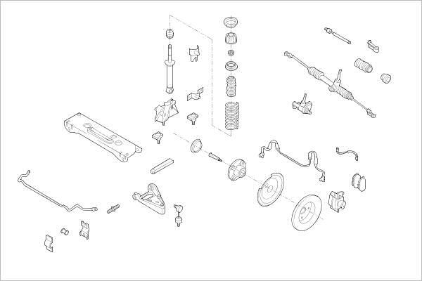 Silentblocs des roues DELPHI OE-SMAR-000017197-F (X1)