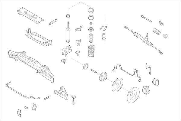 Silentblocs des roues DELPHI OE-SMAR-000014661-F (X1)