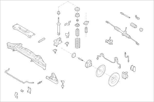 Silentblocs des roues DELPHI OE-SMAR-000012180-F (X1)