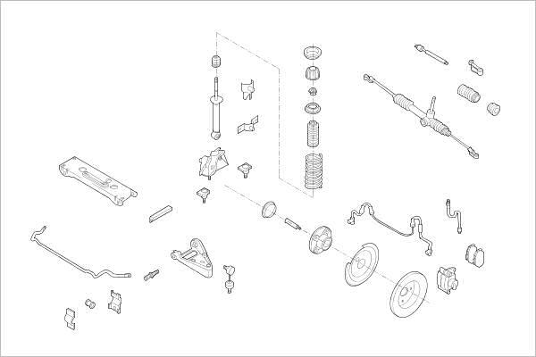 Silentblocs des roues DELPHI OE-SMAR-000017564-F (X1)