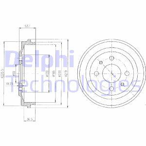 Tambour de frein arriere DELPHI BF136 (X1)